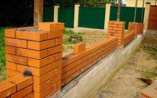 Фундамента под кирпичный забор: как залить своими руками