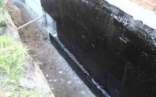 Обмазочная гидроизоляция для фундамента — выбор и технология