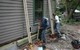 Реконструкция фундамента деревянного дома: причины разрушения, инструкция к работе, особенности