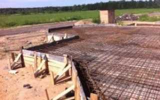 Фундамент монолитная плита с ростверком: конструкция и особенности