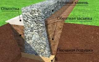Бутовый фундамент: укладка бутового камня для фундамента своими руками