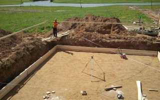 Песчаная подушка под фундамент своими руками: толщина, трамбовка