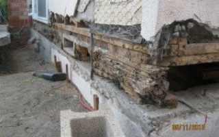 Замена фундамента деревянного дома: причины проблем, способы и инструкция по ремонту, новое основание