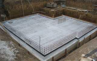 Монолитная плита с ростверком — комбинированный фундамент: устройство