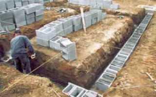 Блоки для фундамента: пустотелые, железобетонные, пенобетонные и газобетонные