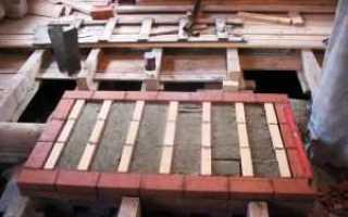 Фундамент под печь в деревянном доме с барбекю своими руками
