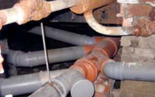 Вывод канализации из дома под фундаментом: как пробить отверстие канализации
