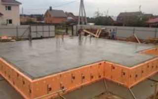 Плитные фундаменты: размеры, минимальная толщина под гараж и дом