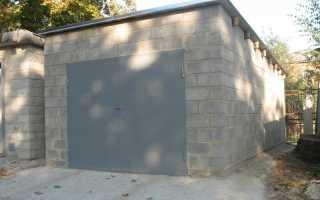 Фундамент под гараж из шлакоблока