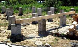Что такое столбчатый фундамент и как он устроен + фото