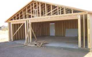 Фундамент под гараж каркасный, из шлакоблоков, металлический: как рассчитать