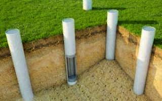 Фундамент из асбоцементных труб своими руками: пластиковых ПВХ труб