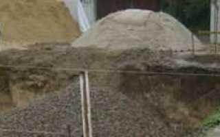 Подушка под фундамент: песок или щебень, заливка и устройство