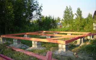 Столбчатый фундамент из блоков своими руками: технология строительства