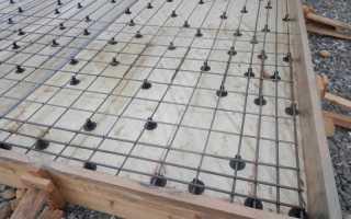 Как правильно вязать арматуру для монолитной плиты + схема