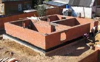 Ленточный фундамент для кирпичного дома (двухэтажного)