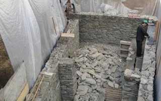 Фундамент из гранита и дикого природного камня своими руками