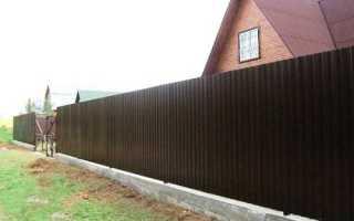 Забор из профнастила на ленточном фундаменте своими руками