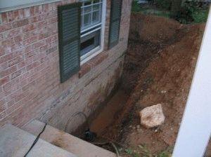 Ленточный ремонт фундамента