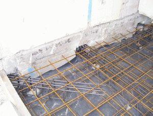 Вторая заливка бетона после контура