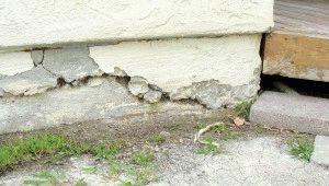 Обрушение бетонного основания дома