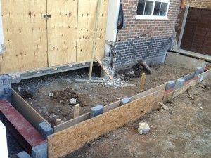 Подстройка основания к деревянному дому