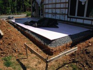 Ленточный фундамент для пристроенной к дому веранды