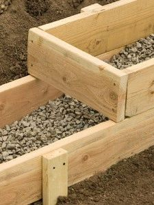Опалубка для фундамента на склоне