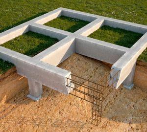 Эскиз устройства столбчатого фундамента на песчаной почве