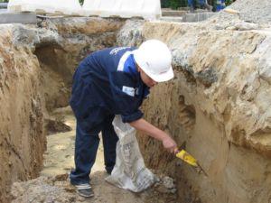 Проведение исследования грунта для выбора типа основания здания