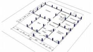 Схематическое отображение расположения свай в зависимости от конструктивных особенностей строения