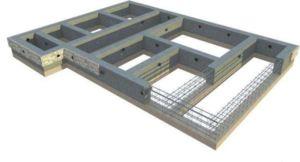 Эскиз проекта ленточного фундамента для двухэтажного дома