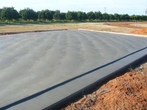 Вид монолитного бетонного фундамента