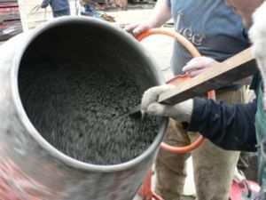 Бетонная смесь для заливки основания бани
