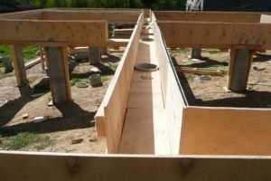 Фундамент на бетонных сваях