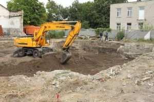 Разработка грунта под фундамент