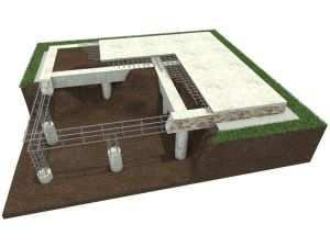 Свайно-ростверковый фундамент на железобетонных сваях