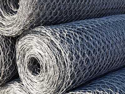 Плетеная сетка для габионов