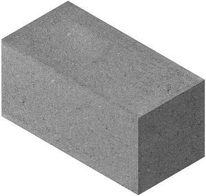 Полнотелый блок 20х20х40