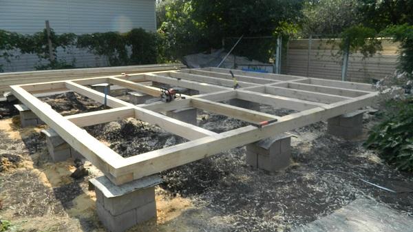 Столбчатый фундамент из блоков из блоков