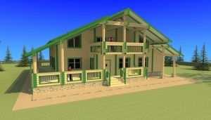 Деревянный дом 14 на 10 метров на фундаменте УШП