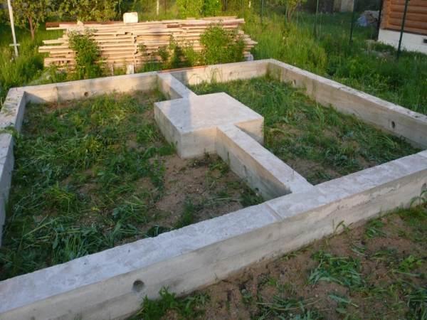 Встроенный фундамент для печи (камина)