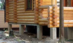 "Дом ""сруб"" на свайном фундаменте"